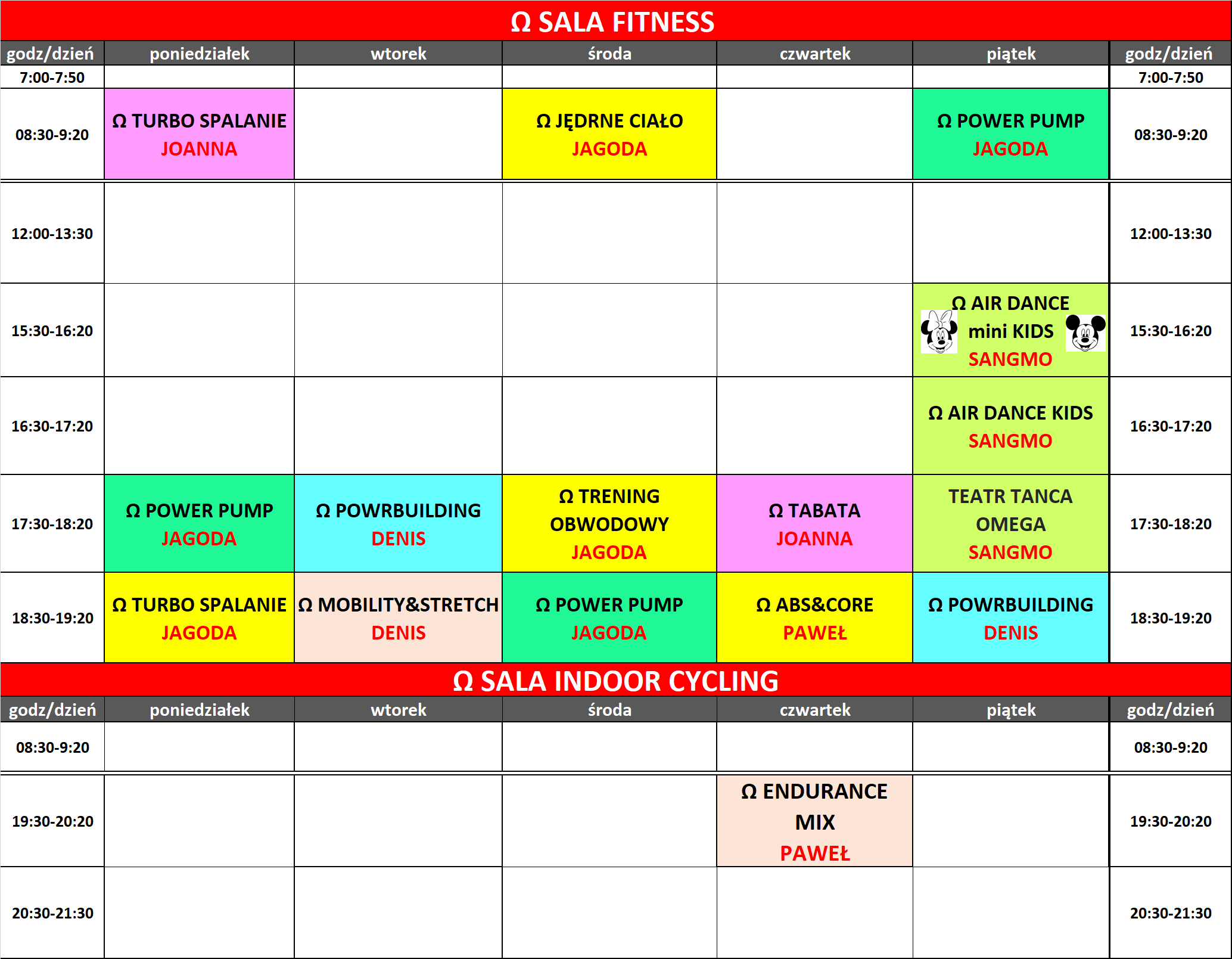 grafik omega fitness gym